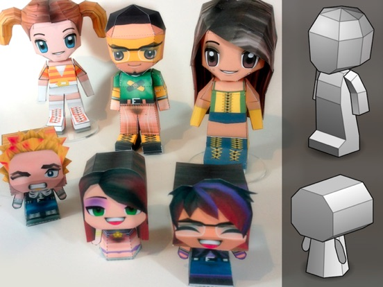 Screenshot #4 for PaperChibi Lite - Free Avatar Papercraft