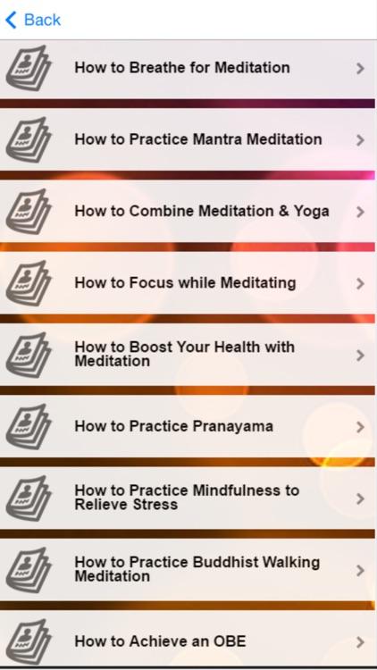 Meditation Tips - Learn How to Do Meditation screenshot-4