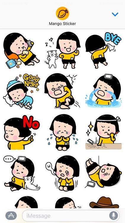 Mobile Girl, MiM - Mango Sticker