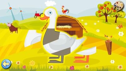 農場 - ぬりえ - パズル - キッズと子供のためのゲームスクリーンショット4