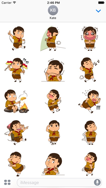 Boy Scout Stickers for iMessage by AMSTICKERS screenshot-3