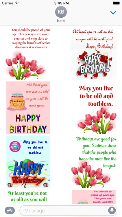Birthday funny stickers for iMessage screenshot-3