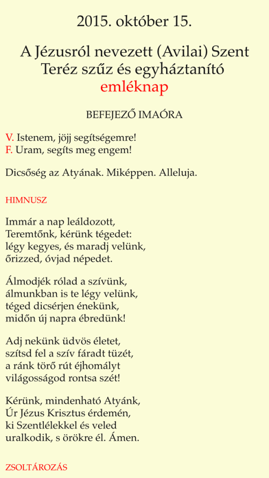 Zsolozsma screenshot one