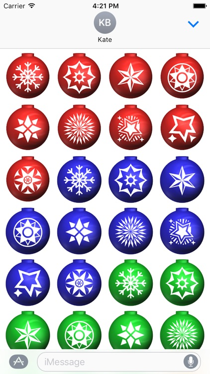 Xmas Balls Stickers screenshot-1