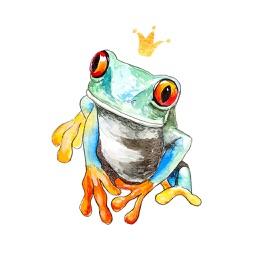 Hipster Frog
