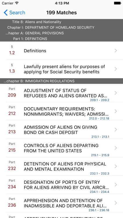 8 CFR - Aliens and Nationality (LawStack Series) screenshot-4