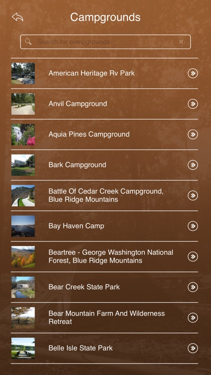 Virginia Camping Locations