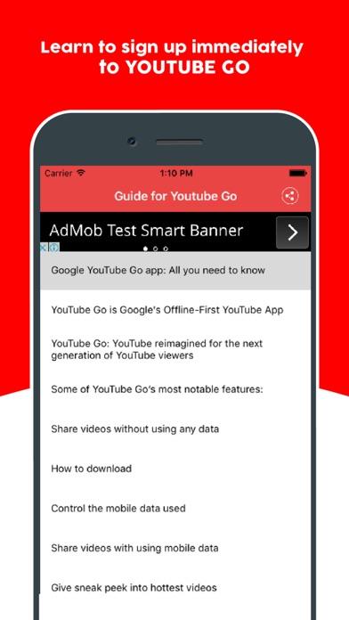 Guide for Youtube Go - Learn Offline Youtube App screenshot two