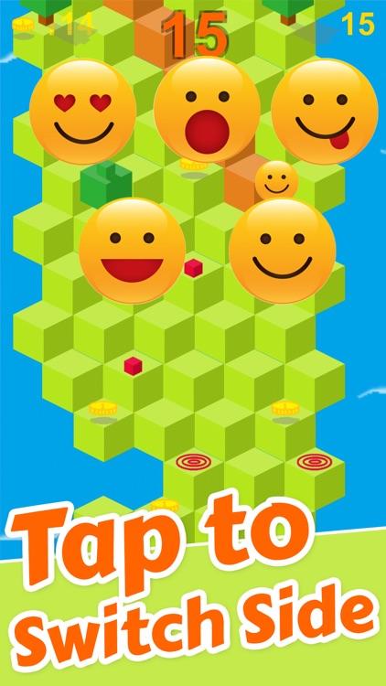 Cube Skip Emoji Fall Down : Emotion Rolling Ball Endless Games screenshot-3