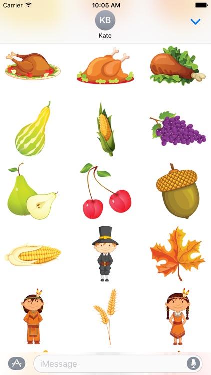 Thanksgiving Stickers #1 screenshot-4