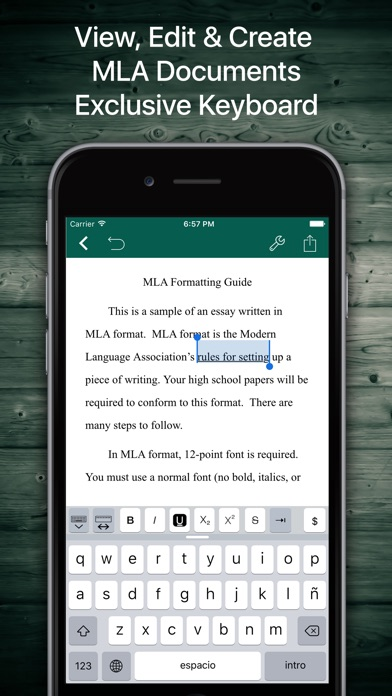 Screenshot #2 pour MLA Format and Document Writer