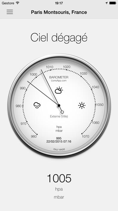 Screenshot #1 pour Baromètre - Pression atmosphérique