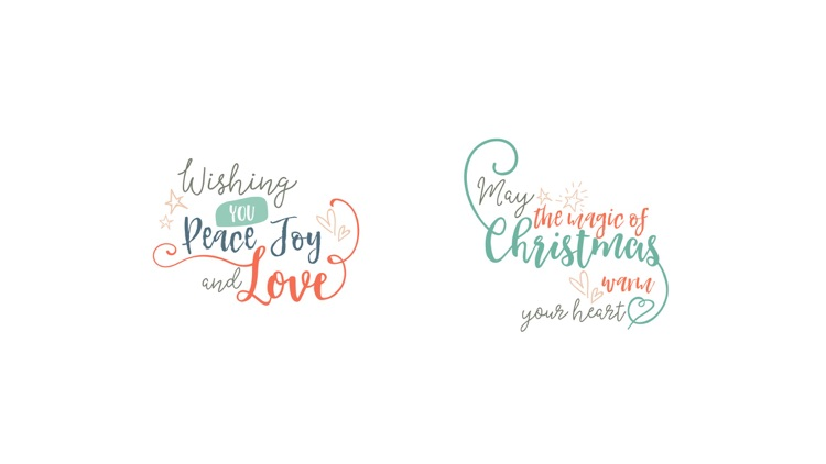 Merry Christmas Lettering Stickers screenshot-4