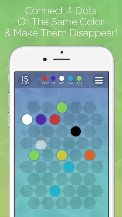Hexa Dots - Connect Four Dots of the Same Color