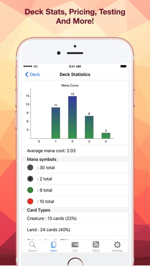 Decked Builder Lite On The App Store See deck price, mana curve, type distribution, color distribution, mana sources, card probabilities, proxies decked builder lite on the app store