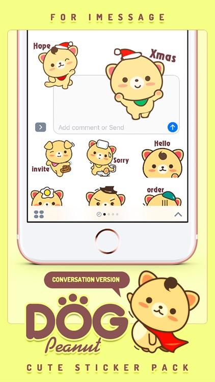 Peanut Dog Sticker - Cute Emotional & Xmas Emoji screenshot-4