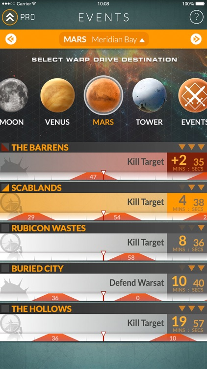 Events for Destiny Track Public Events Timers