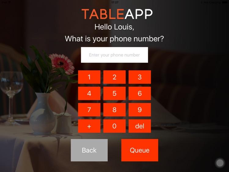 TABLEAPP Waiting List screenshot-3