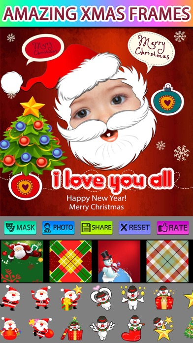 Xmas Greeting Photo Frames