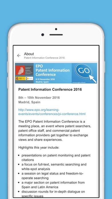 点击获取EPO Patent Information Conference 2016