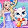 安吉拉公主治疗清理装扮猫咪,益智女孩服装宠物游戏