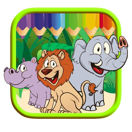 Zoo Animal Coloring Page Game Free For Kid Edition by Takol Wang