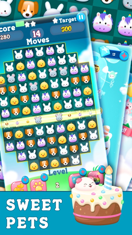 Secret Panda: pets heroes life - match 3 animals screenshot-4