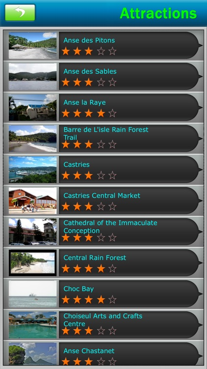 St. Lucia Offline Map Travel Guide screenshot-2