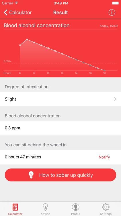 Breathalyzer - alcohol test & alco calculator