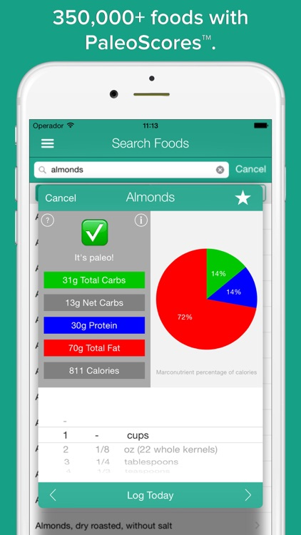 Paleo Tracker PRO - primal & low carb diet counter screenshot-1