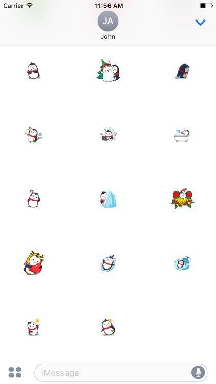 Merry Christmas PenGuins Animated Stickers screenshot-4