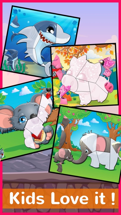Chibi Animals Phonics Jigsaw Puzzle Games For Kids screenshot-4