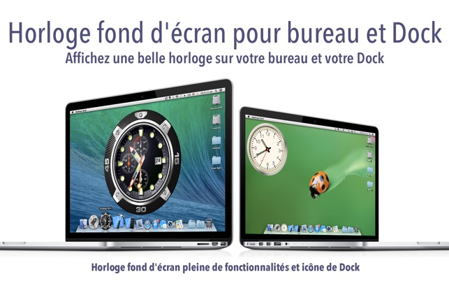 horloge de bureau fond d cran dock d horloge dans le mac app store. Black Bedroom Furniture Sets. Home Design Ideas