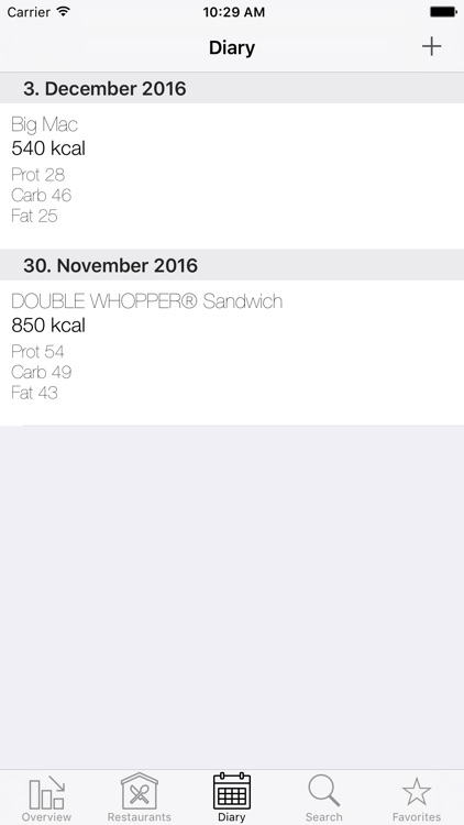 Fast|Food|Diary screenshot-3