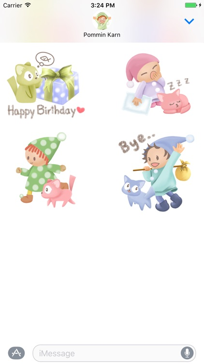 Pommin and the Kitty Gang Stickers for Messages screenshot-4