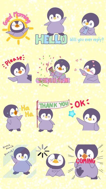 Penguin Bo Animated Bird Stickers for Text Message