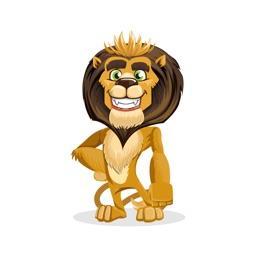 Cartoon Lion Sticker Vol 01