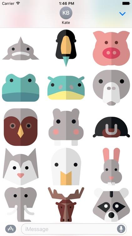 Animal Stickers and Emoji - Cute Pets screenshot-3