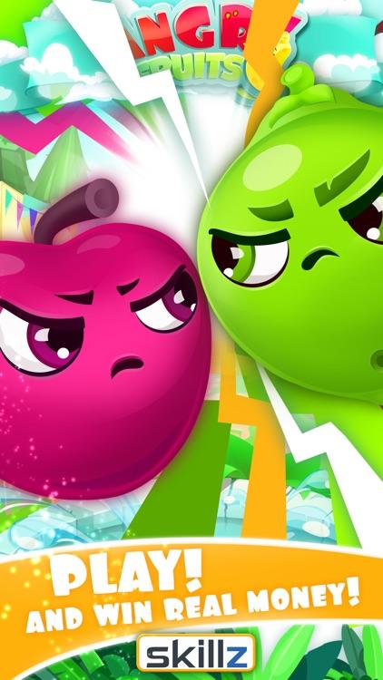 Angry Fruits 1 VS 1 Puzzle : Real Money Gaming screenshot-3