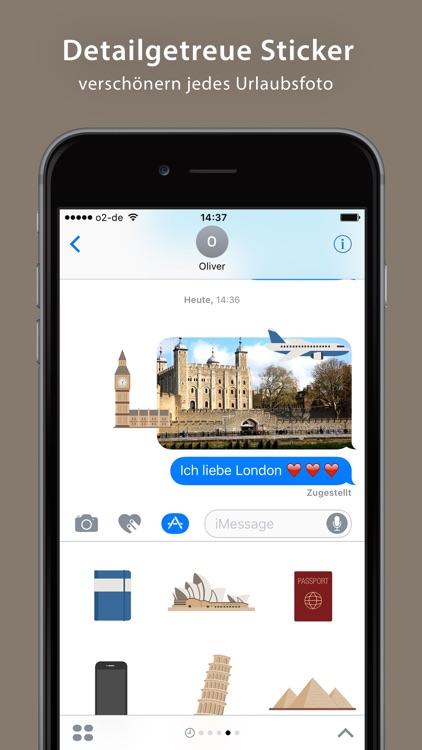 Travel Sticker Pack - iMessage screenshot-3