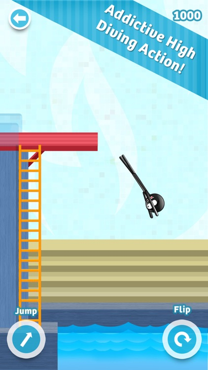 Stickman High Diving - Touch, Jump & Flip!