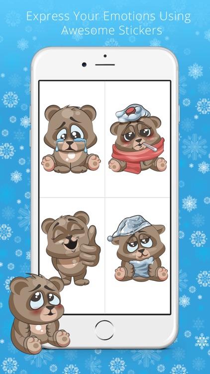 Cuddlebug Teddy Bear Emoji  -Stickers screenshot-4