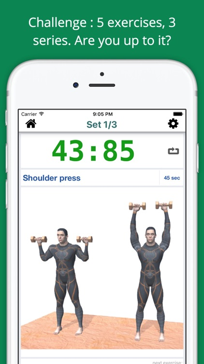 Upper Body Challenge Workout with dumbbells PRO