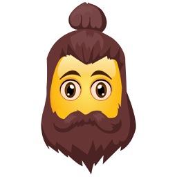 Hipster Emojis – Sexy Mustache & Beard Emojis