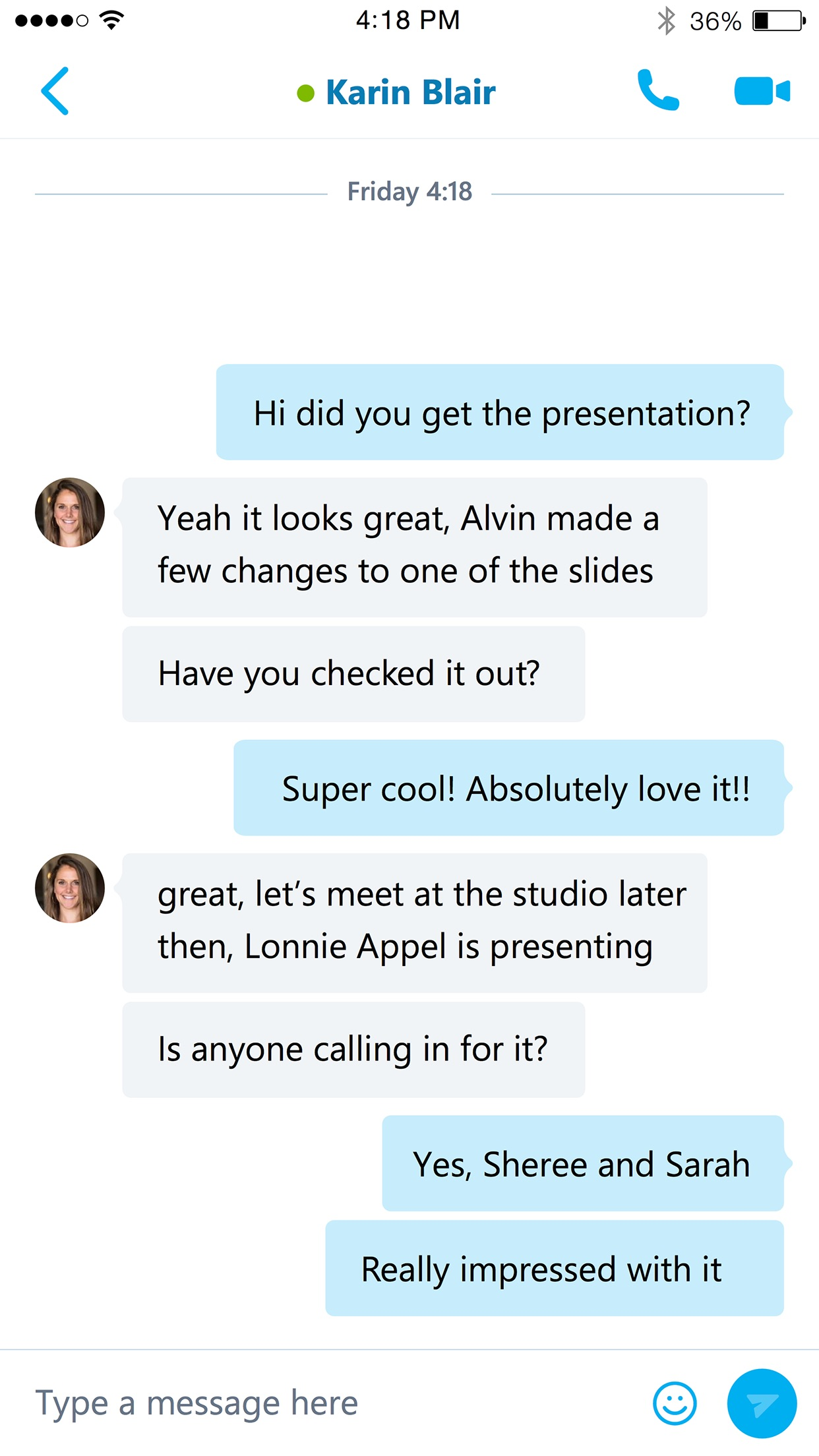 Skype for Business (formerly Lync 2013) Screenshot