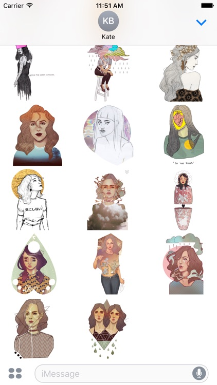 Dream Lady - Redbubble sticker pack