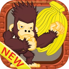 Activities of King kong eat banana jungle games for kids