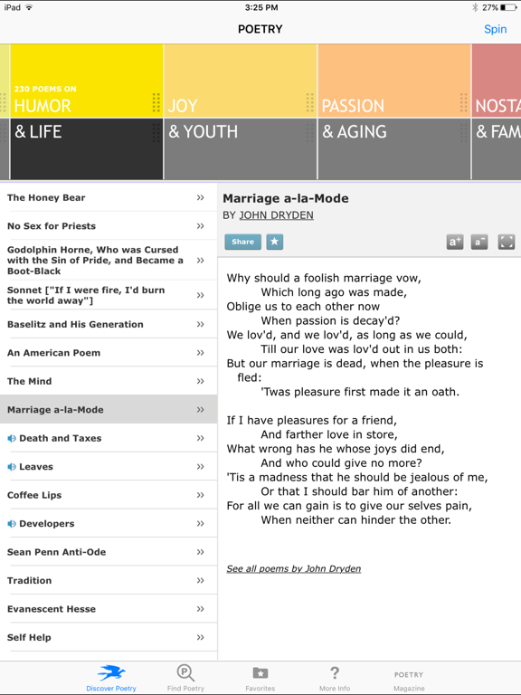 POETRY from The Poetry Foundation screenshot