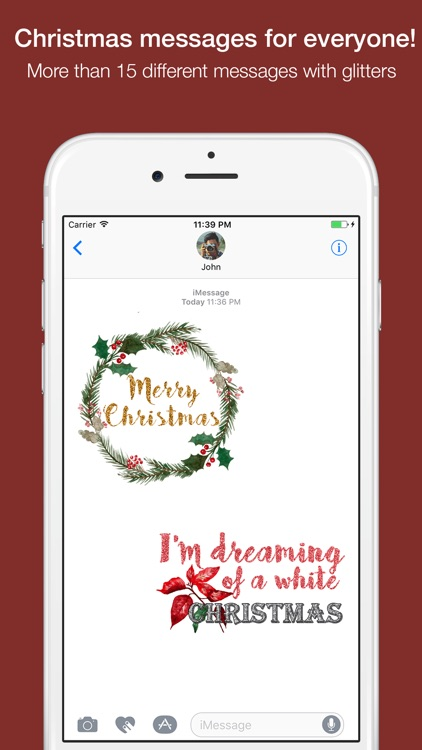 Christmas Messages Stickers - Maraquela Watercolor