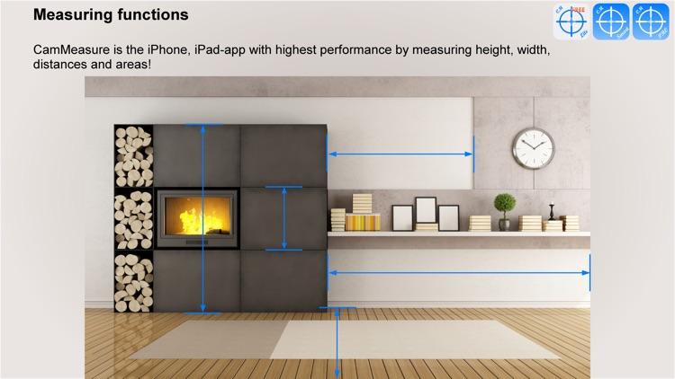 CamMeasure Smrt Measure height width distance area screenshot-3